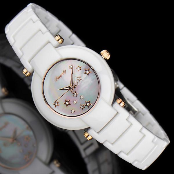 供应广州陶瓷表香港专柜石英手表女腕表时尚明星截的陶瓷手表
