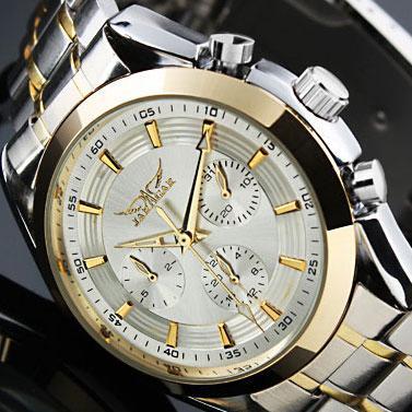 外贸正品瑞士腕表 三眼男士商务全自动机械表 罗马复古手表潮男表060