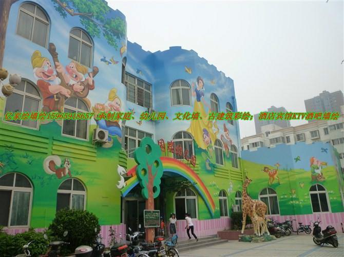 供应德州幼儿园墙绘 供应山东墙绘幼儿园喷绘 供应幼儿园喷绘室外墙绘图片