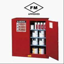 供应可燃物存放红色安全柜 FM认证 十年品质保障 三种语言警告标签批发