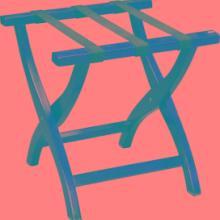 供应酒店折叠置物架支架实木行李架客房批发