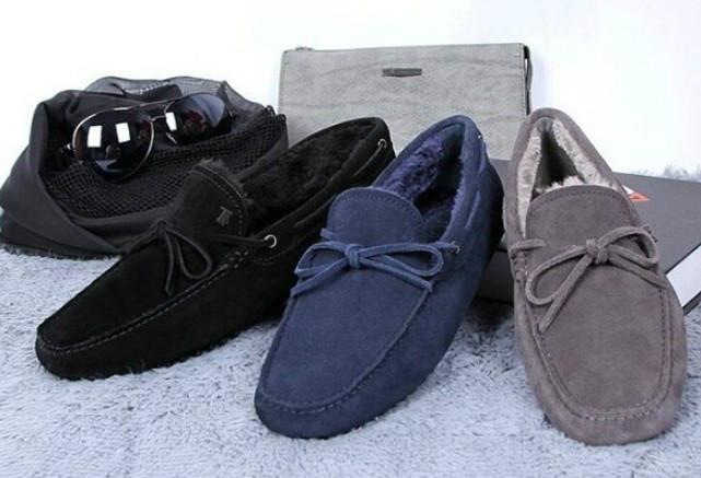 绒里男士豆豆鞋