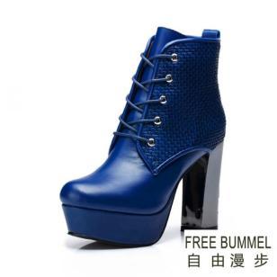 自由漫步真皮女鞋图片