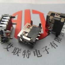 供应插键式USB母座 短体10.0 90度 四脚DIP 端子SMT