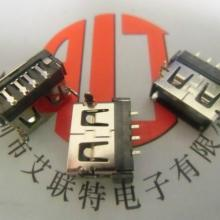 供应AF/USB母座 短体10.6,H6.3前两锥脚(一字胶芯)