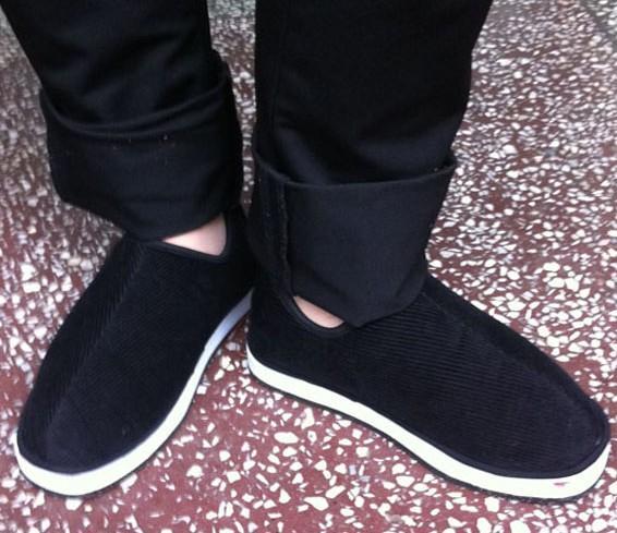 冬季纯手工老北京布鞋男女老人棉鞋销售