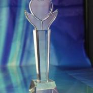 上海爱心企业奖杯订做爱心奖牌图片