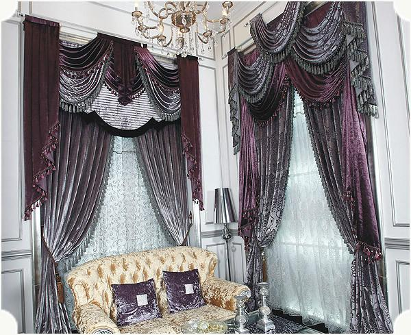供应奢华富丽欧式贵族客厅窗帘