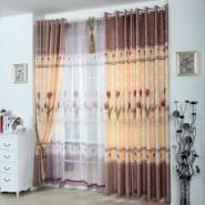 紫蝶韩式田园半遮光印花儿童窗帘图片