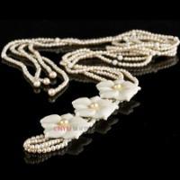 御灵珠宝花语润白珍珠长款项链