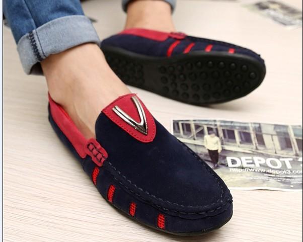 潮流男鞋图片 潮流男鞋样板图 韩版潮流豆豆鞋时尚藏