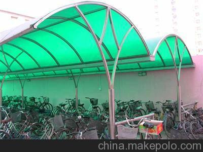 供应深圳恒鑫定做各种不锈钢玻璃雨棚 阳光板雨棚设计安装