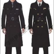 物业单位冬季保安大衣工作服定制图片