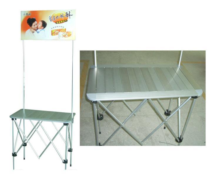供应厦门折叠式促销台拉网式促销桌