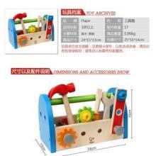 供应德国hape过家家玩具工具箱木制盒套拼装优质材质超光滑批发