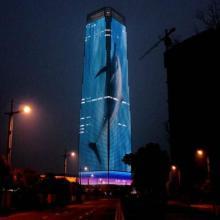 大厦玻璃-大厦玻璃幕墙-大厦玻璃最新LED产品玻璃屏图片