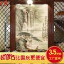 瓷砖背景墙艺术瓷砖山水小鹿图片