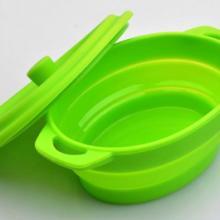 加工订制硅胶厨具用品 硅胶折叠碗 硅胶餐具用品