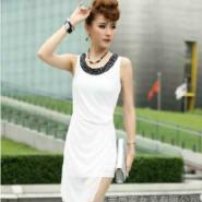 供应墨家风格雪纺白色连衣裙