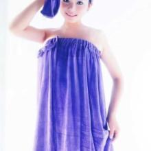 厂家直销超细纤维浴巾抹胸浴巾蝴蝶结浴裙超细纤维浴袍批发