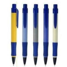 广西桂林圆珠笔按动0.7顺滑橡胶笔杆广告笔粗杆天丰B-587可定做批发