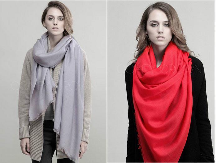 供应高级定制礼品纯羊绒围巾高端围巾