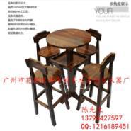 碳烧碳化酒吧餐椅仿古家具台凳图片