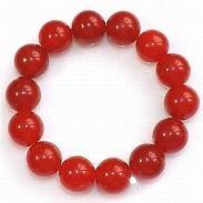 【中秋特惠】供应正品天然红玛瑙手链圆珠本命年转运保平安 红色手链
