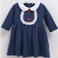 新款长袖女全棉童连衣裙