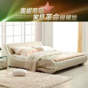 奥妮帝斯家具皮床双人床图片