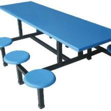 广州学校家具,玻璃钢家具,八人连体桌椅
