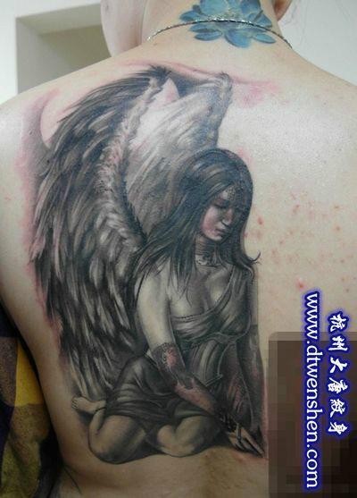 杭州纹身天使翅膀纹身杭州最好的纹身店【大唐纹身】