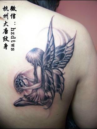 腰部天使纹身图男腰部纹身腰部纹_纹身图案