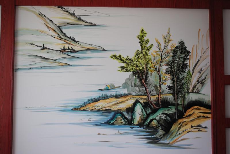 手绘彩绘电视背景墙