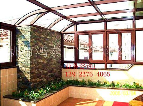 供应别墅屋顶花园阳光房设计图片大全
