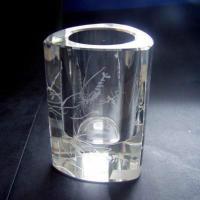 供应水晶笔筒水晶办公工艺品