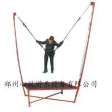 供应钢架蹦极床多少钱一台,郑州心悦儿童单人蹦极价格批发