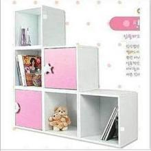 供应促销韩式超人气白色小柜子书橱书柜、格子柜、书柜、展示柜、儿童书柜批发