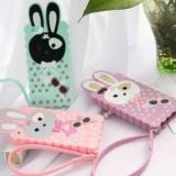 Aainina/爱您纳 ipone4/4s手机壳苹果5外壳蝴蝶结小兔