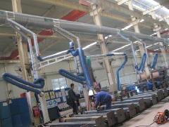 供应多工位中央烟尘净化系统电子焊锡烟尘净化设备
