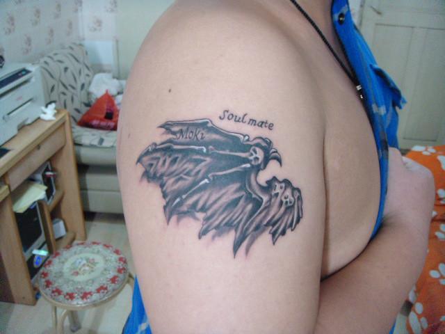 纹身恶魔之翅膀纹身胳膊纹身(图)   翅膀图片   青岛魔域纹身高清图片
