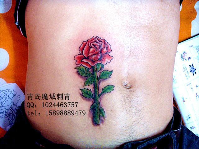 纹身_纹身供货商_供应玫瑰纹身疤痕遮盖青岛纹身