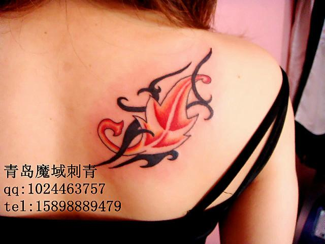 供应青岛枫叶纹身