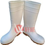 高档白色防水雨鞋食品雨靴批发图片