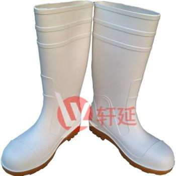 供应高档白色防水雨鞋食品雨靴批发耐油雨靴耐酸碱雨鞋男式雨靴耐磨