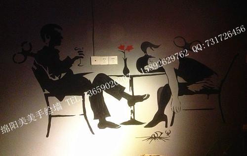 手绘墙画绵阳酒吧手绘墙画图片