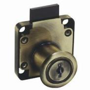 138古铜色抽屉锁生产图片