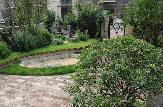 供应广汉花园景观设计,德阳私家别墅设计-德阳兰庭别墅小门入户花园前花园图片