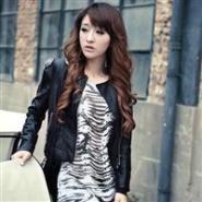 韩版外套短款PU皮衣图片