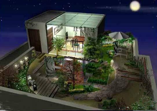 南宁市景观设计 景观设计供应商 供应南宁屋顶花园设计南宁庭院景观图片